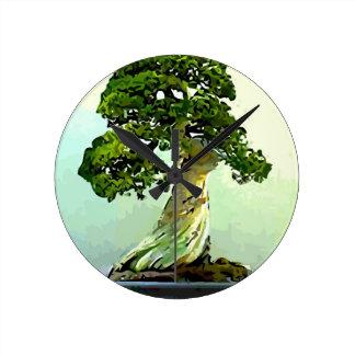 Bonsai Cypress Tree Wallclock