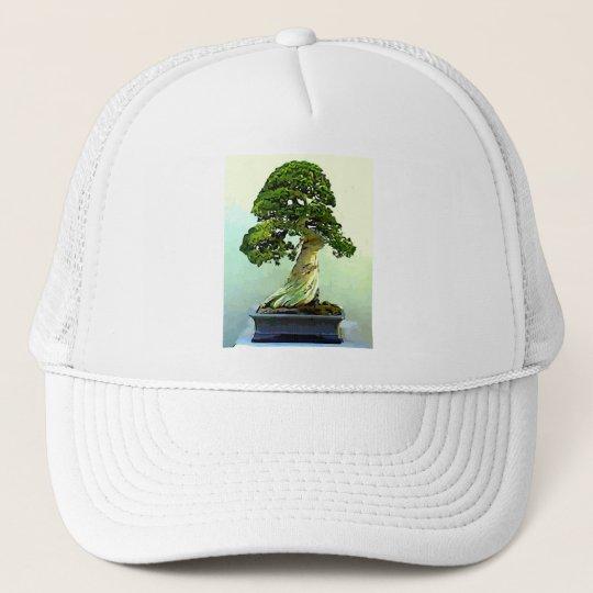 Bonsai Cypress Tree Trucker Hat