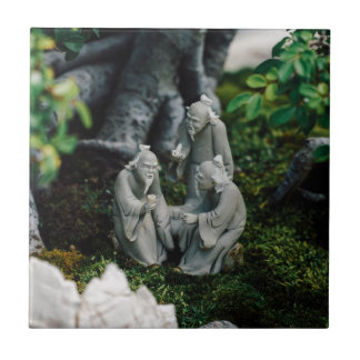 Bonsai Figurines Ceramic Tile