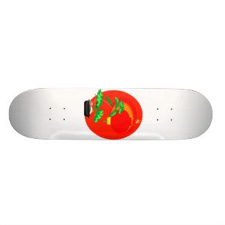 Bonsai Graphic with sun and lantern behind Skateboard