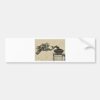 bonsai in art form 2 bumper sticker