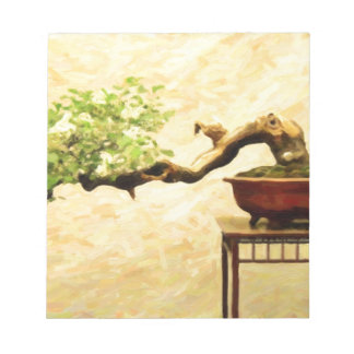bonsai in art form acrylic note pads