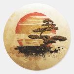 Bonsai in the Sun Round Stickers