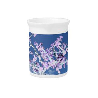 Bonsai inverted purple white against sky portulaca beverage pitcher