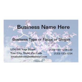 Bonsai inverted purple white against sky portulaca business card