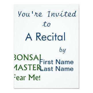Bonsai master Fear Me Green Text Invitations