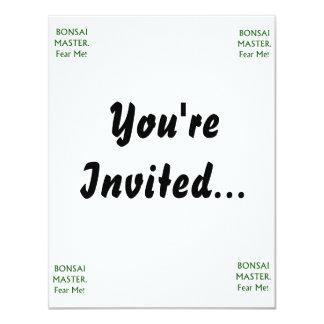 Bonsai master Fear Me Green Text Invite