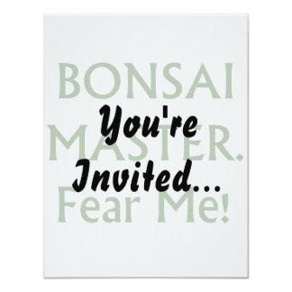 Bonsai master Fear Me Green Text Custom Invitation