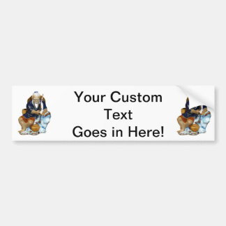 Bonsai Mudman Fishing Design Car Bumper Sticker