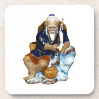 Bonsai Mudman Fishing Design Beverage Coaster