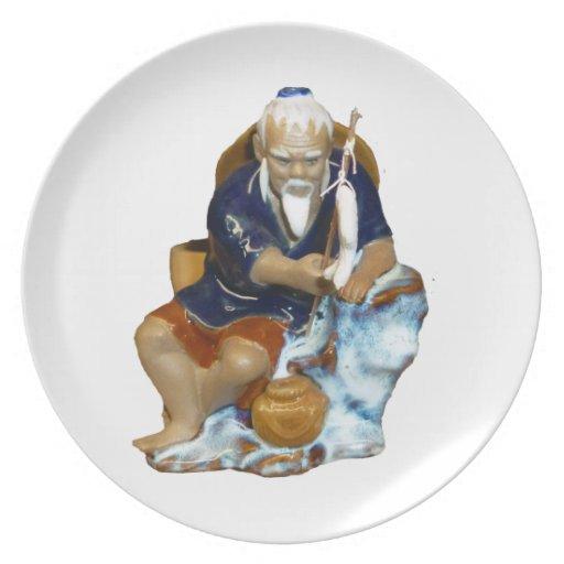Bonsai Mudman Fishing Design Party Plates