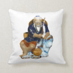 Bonsai Mudman Fishing Design Throw Pillows