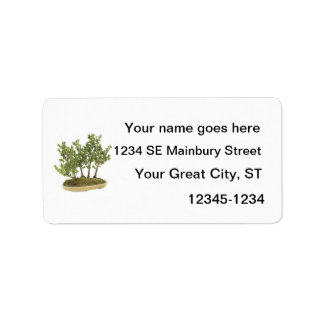 Bonsai Photo 3 Address Label