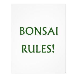 Bonsai Rules Green Text Flyer