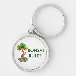 Bonsai Rules Shari Tree Graphic and text design Keychain