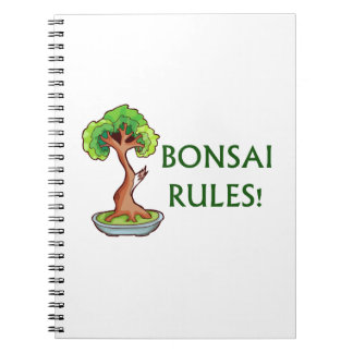 Bonsai Rules Shari Tree Graphic and text design Notebook