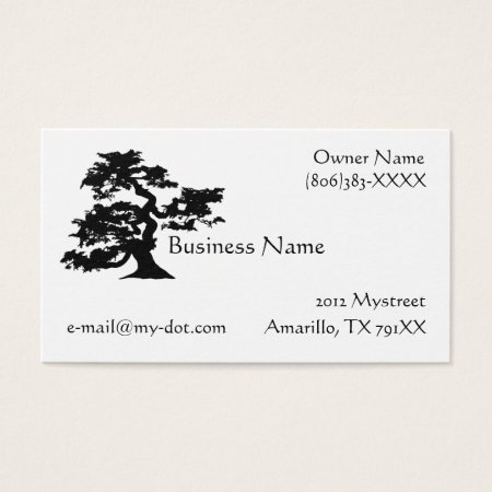 Bonsai Silhouette Business Card