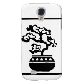 Bonsai Silhouette in round pot Samsung Galaxy S4 Cover