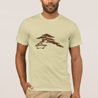 Bonsai silhouette, semi-cascade style (brown ink) T-Shirt