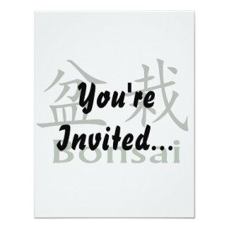 Bonsai Text In Japanese Kaiti and English Green Card