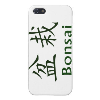 Bonsai Text In Japanese Kaiti and English Green iPhone SE/5/5s Cover