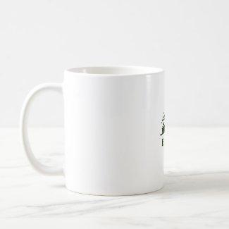 Bonsai Text In Japanese Kaiti and English Green mug
