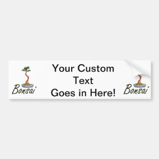 Bonsai text literati graphic car bumper sticker