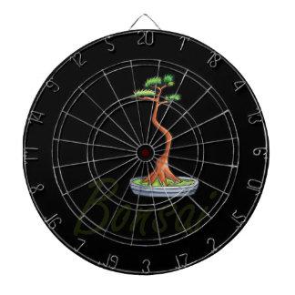 Bonsai text literati graphic dartboard with darts