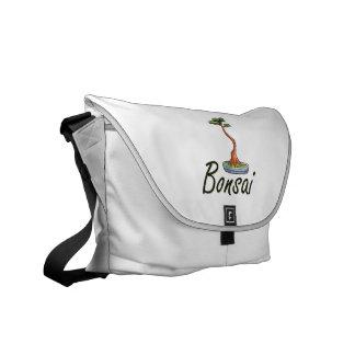 Bonsai text literati graphic courier bag
