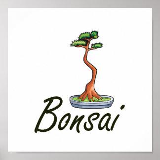 Bonsai text literati graphic poster
