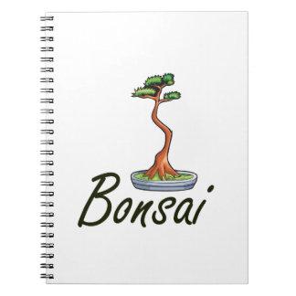 Bonsai text literati graphic spiral notebook