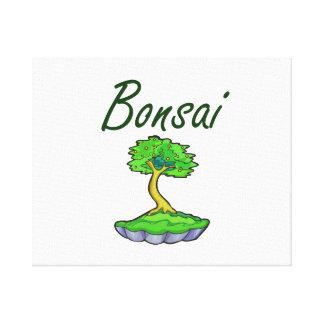 Bonsai text upright tree graphic canvas print