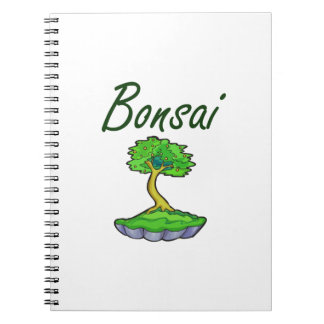 Bonsai text upright tree graphic notebook