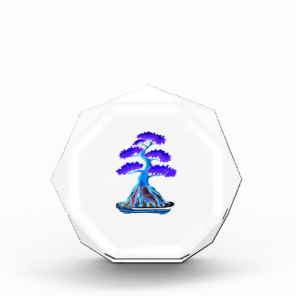 bonsai tree blue root over rock graphic.png acrylic award