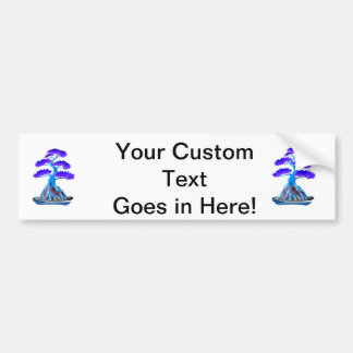 bonsai tree blue root over rock graphic.png bumper sticker