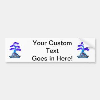 bonsai tree blue root over rock graphic.png car bumper sticker