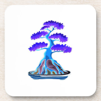 bonsai tree blue root over rock graphic png drink coasters
