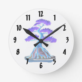 bonsai tree blue root over rock graphic.png round clock