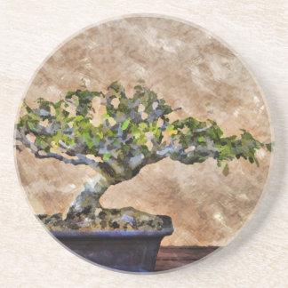Bonsai Tree Beverage Coasters