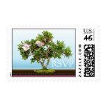 Bonsai Tree Flowers RSVP Postage Stamps
