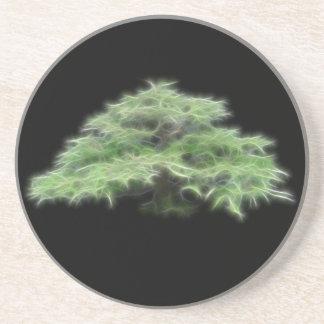 Bonsai Tree Green Plant Drink Coaster