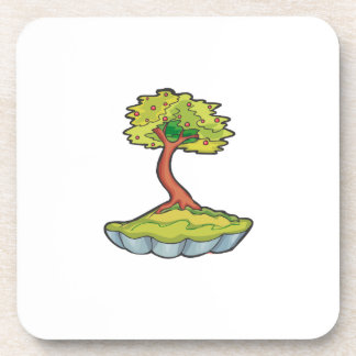 bonsai tree informal upright in scallop pot png drink coaster