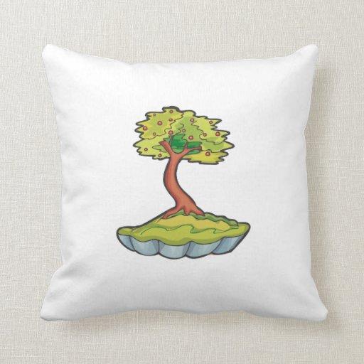 bonsai tree informal upright in scallop pot.png throw pillow