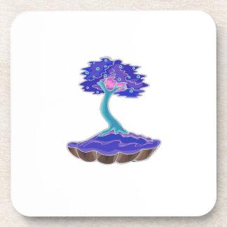bonsai tree invert informal upright in scallop pot coaster