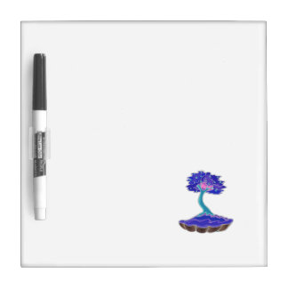 bonsai tree invert informal upright in scallop pot dry erase board