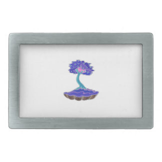 bonsai tree invert informal upright in scallop pot rectangular belt buckle