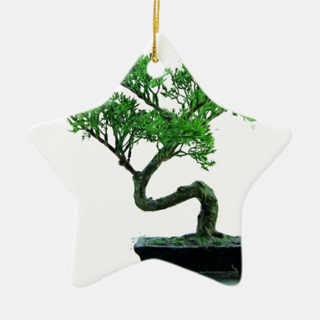 Bonsai Tree Painting Ceramic Ornament Zazzle Com