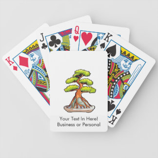 bonsai tree root over rock graphic bicycle playing cards