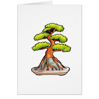 bonsai tree root over rock graphic card