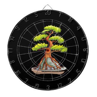 bonsai tree root over rock graphic dartboard
